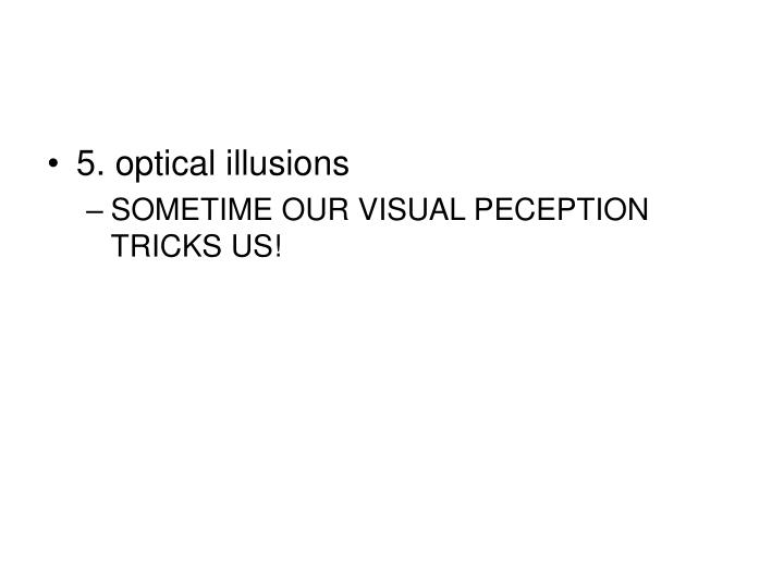 5. optical illusions