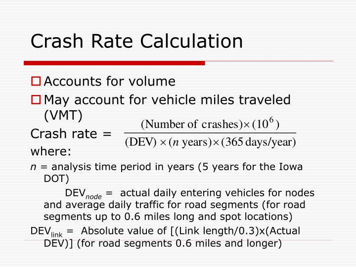 Crash Rate Calculation