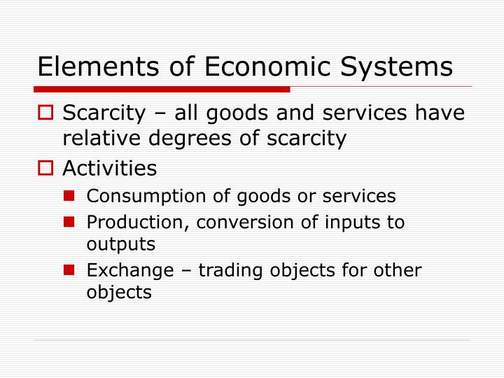 Elements of Economic Systems