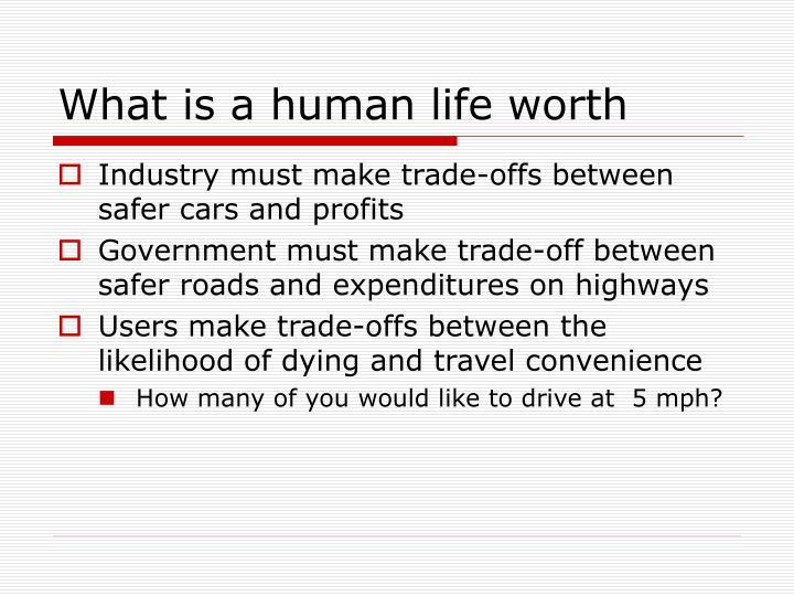 What is a human life worth