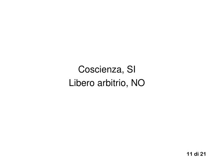 Coscienza, SI