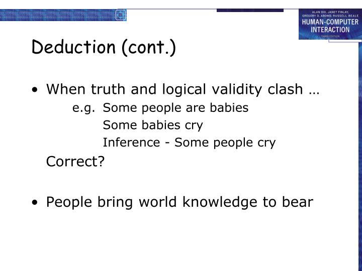 Deduction (cont.)