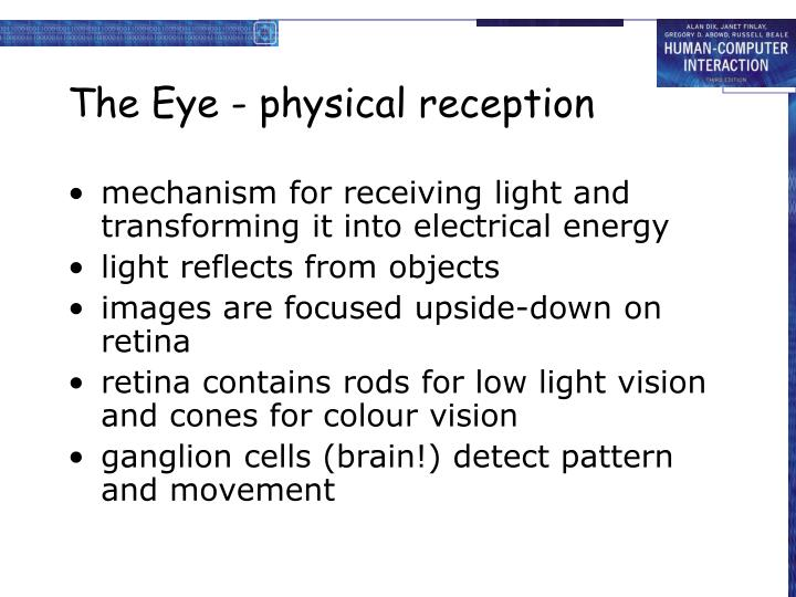 The Eye - physical reception