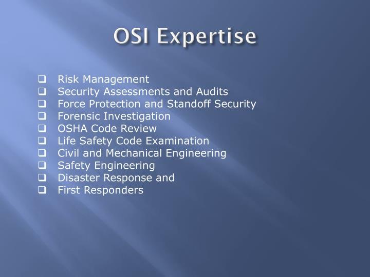 OSI Expertise