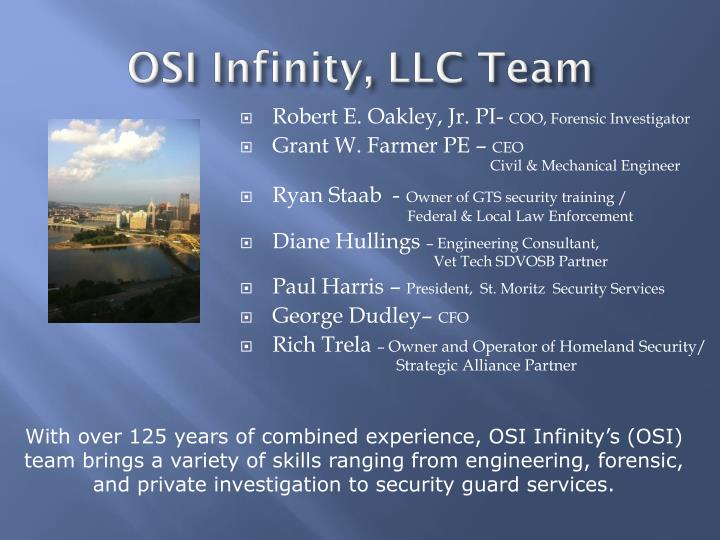 Osi infinity llc team