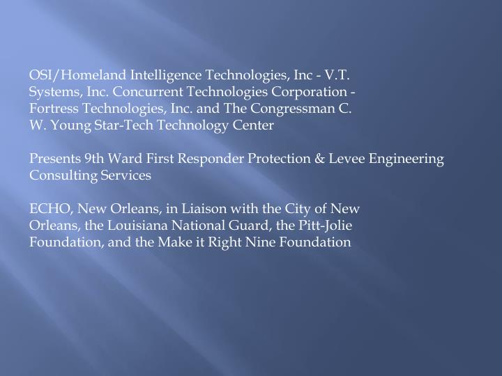 OSI/Homeland Intelligence Technologies, Inc - V.T.