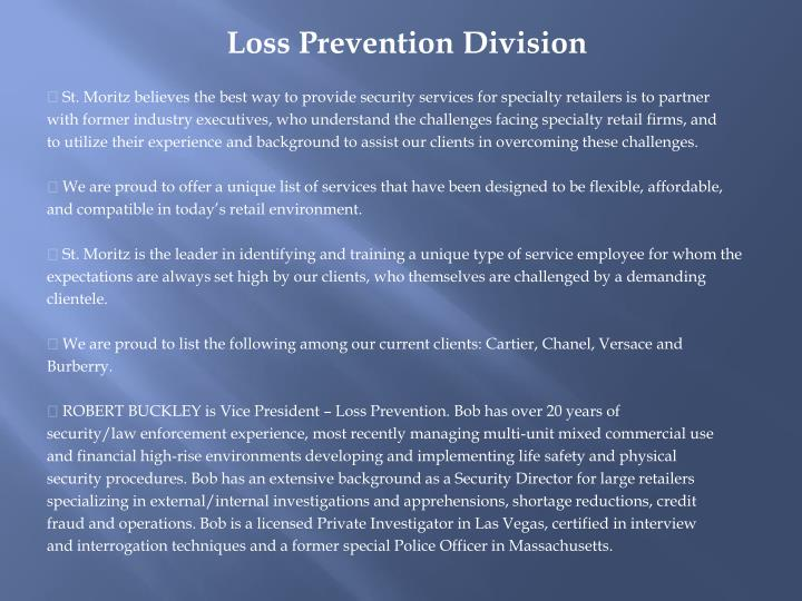 Loss Prevention Division