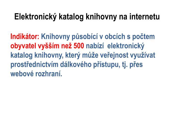 Elektronický katalog knihovny na internetu