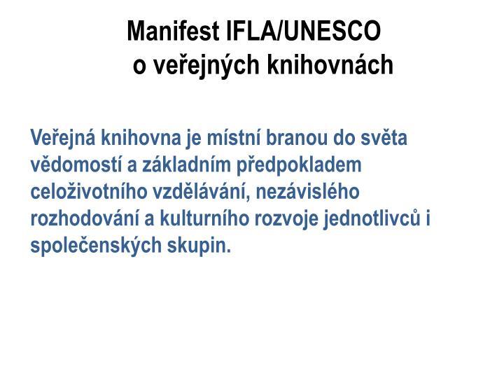 Manifest IFLA/UNESCO