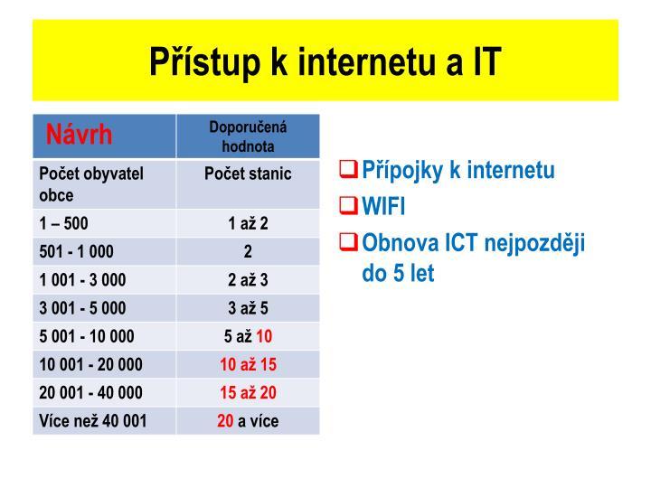 Přístup kinternetu a IT