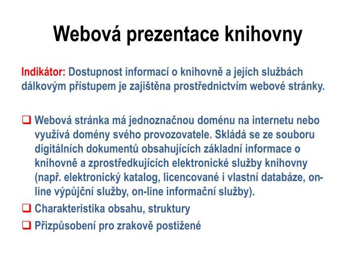 Webová prezentace knihovny