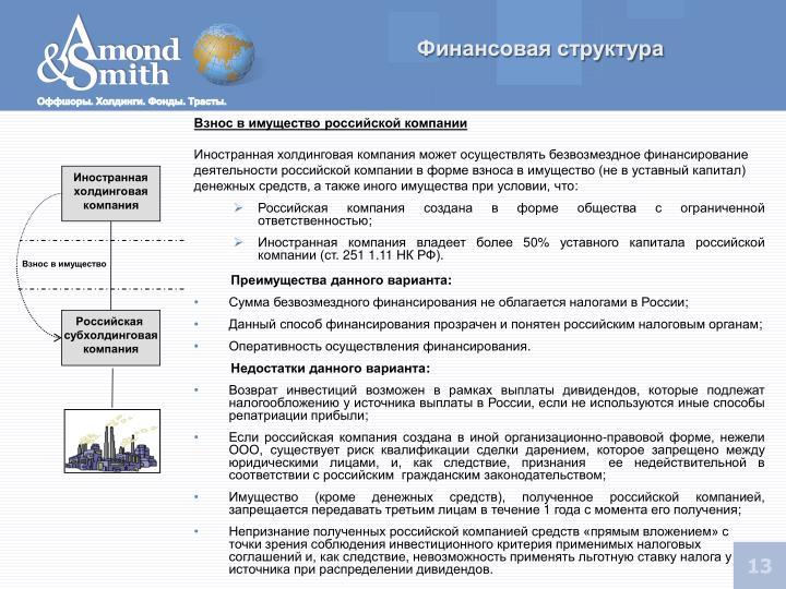 Финансовая структура