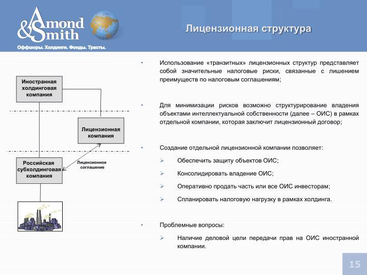 Лицензионная структура