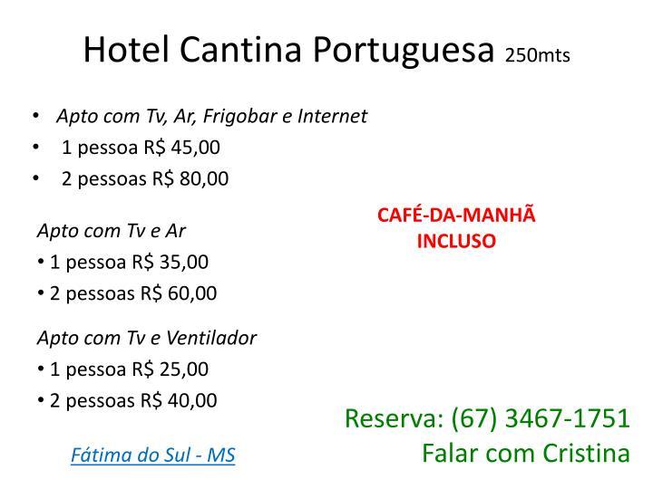Hotel Cantina Portuguesa