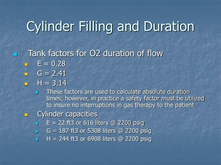 Cylinder Filling and Duration