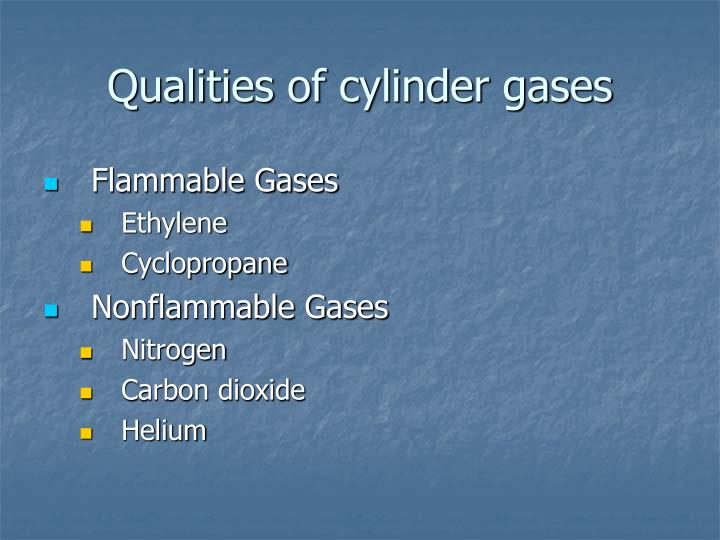 Qualities of cylinder gases