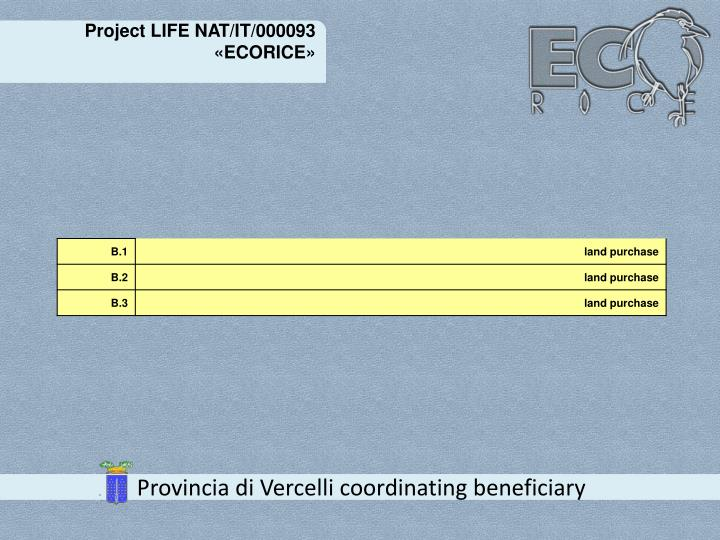 Project LIFE NAT/IT/000093 «ECORICE»