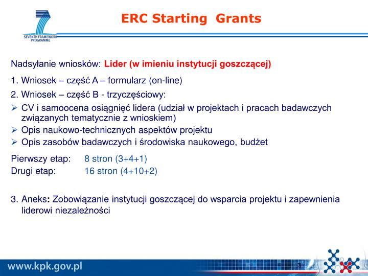 ERC Starting