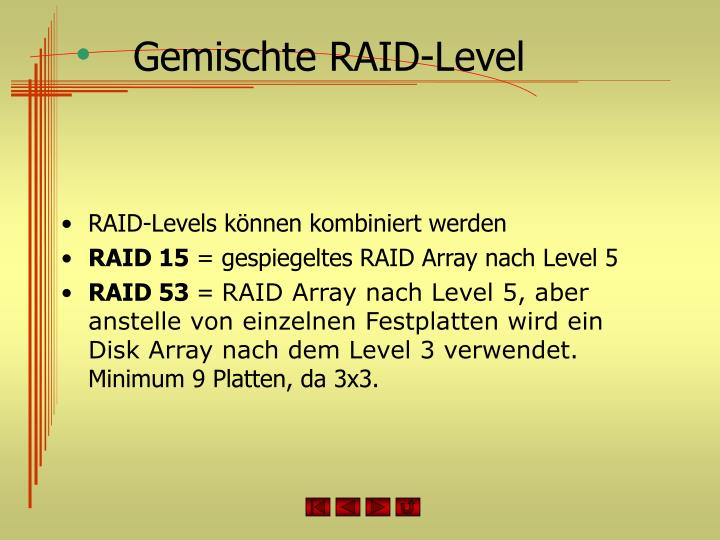 Gemischte RAID-Level