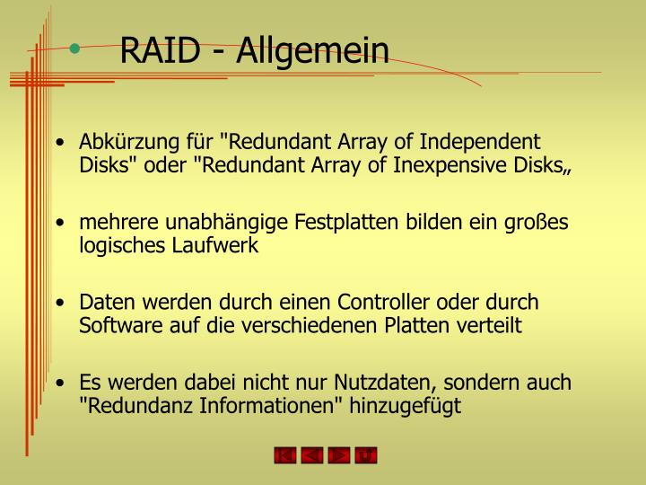 RAID - Allgemein