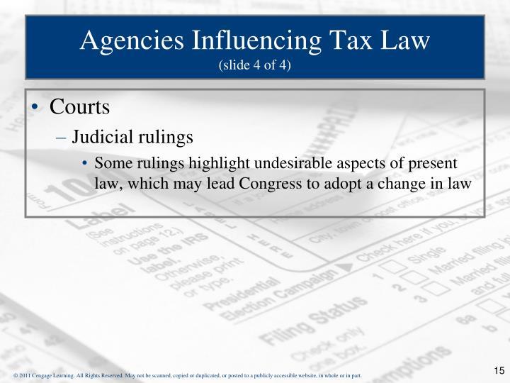 Agencies Influencing Tax Law