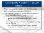 assessing the validity of tax law sources slide 1 of 4