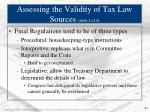 assessing the validity of tax law sources slide 2 of 4