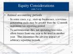 equity considerations slide 3 of 4