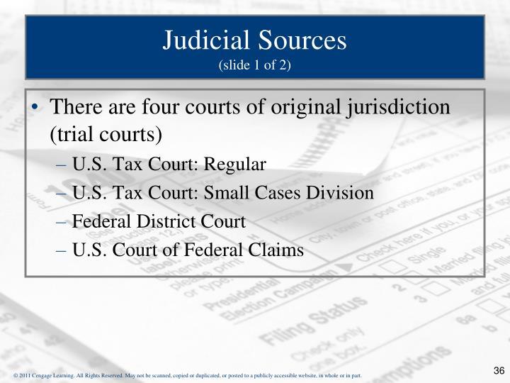 Judicial Sources
