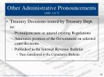 other administrative pronouncements slide 1 of 3