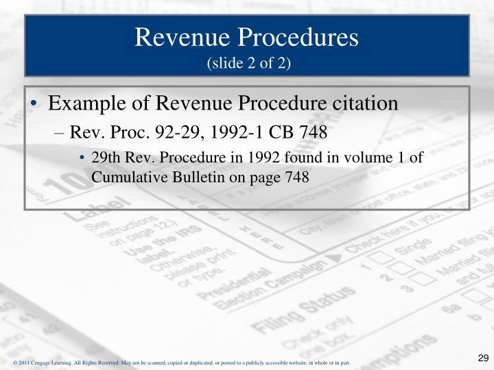 Revenue Procedures