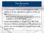 tax research slide 1 of 2