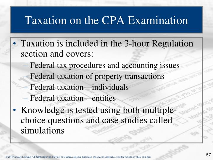 Taxation on the CPA Examination