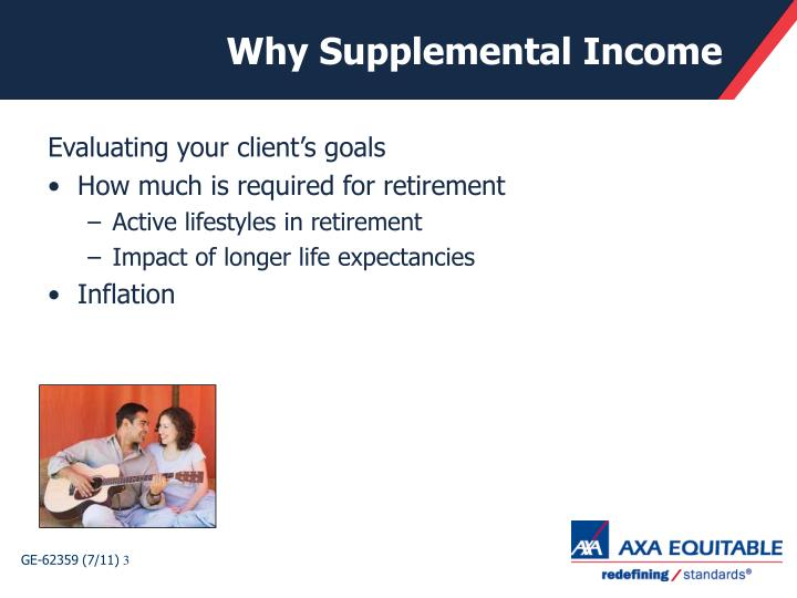 Why Supplemental Income