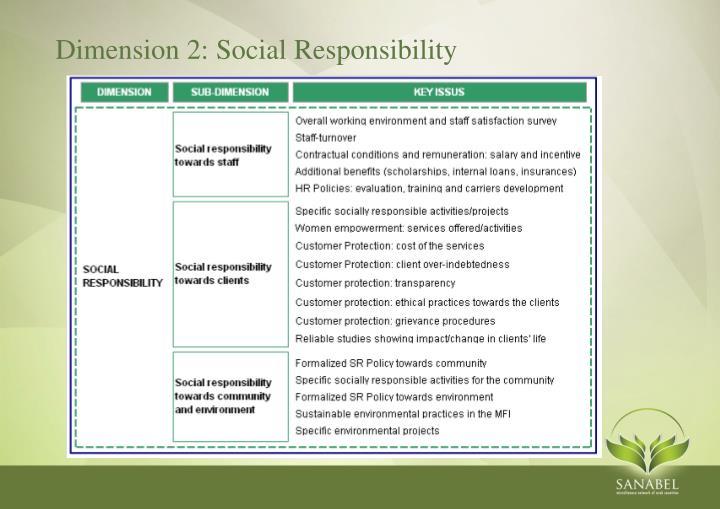 Dimension 2: Social Responsibility