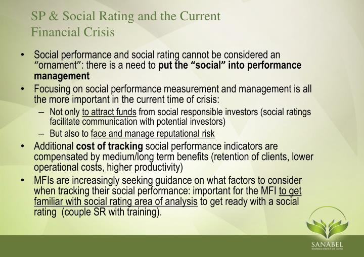 SP & Social Rating and the Current