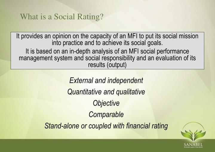 What is a Social Rating?