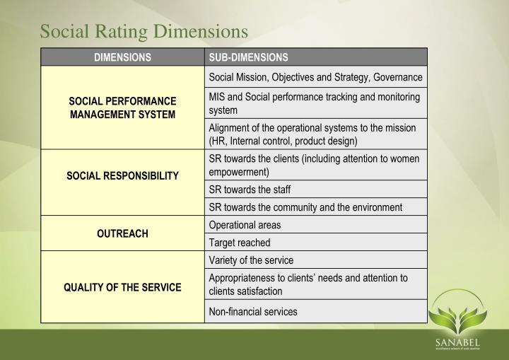 Social Rating Dimensions