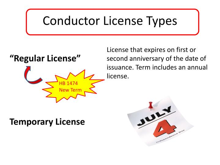 Conductor License Types