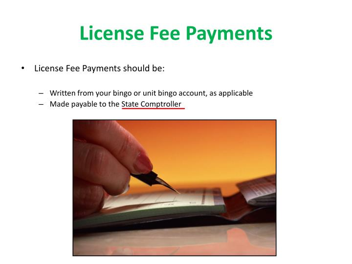 License Fee Payments
