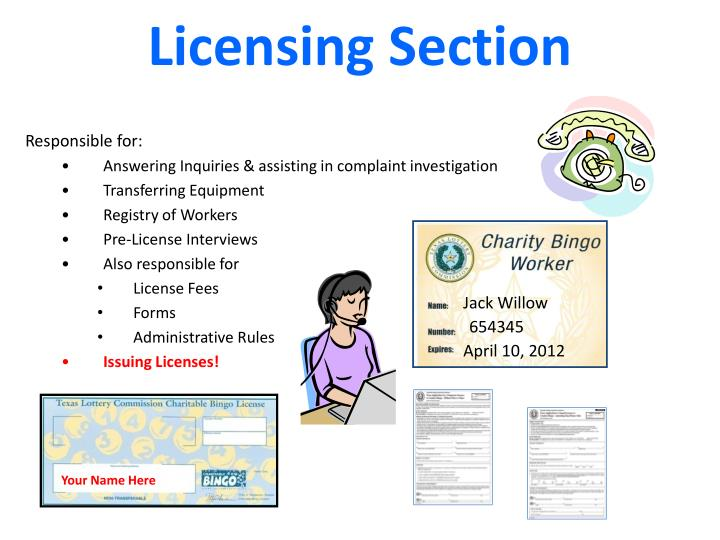 Licensing section