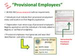 provisional employees