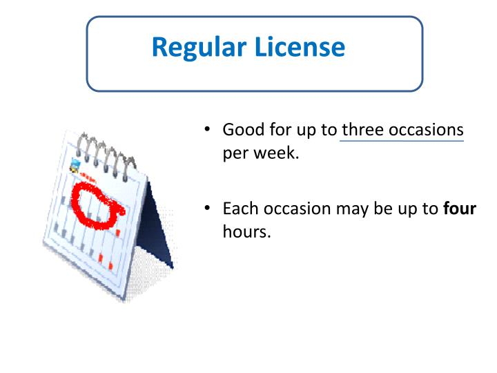 Regular License