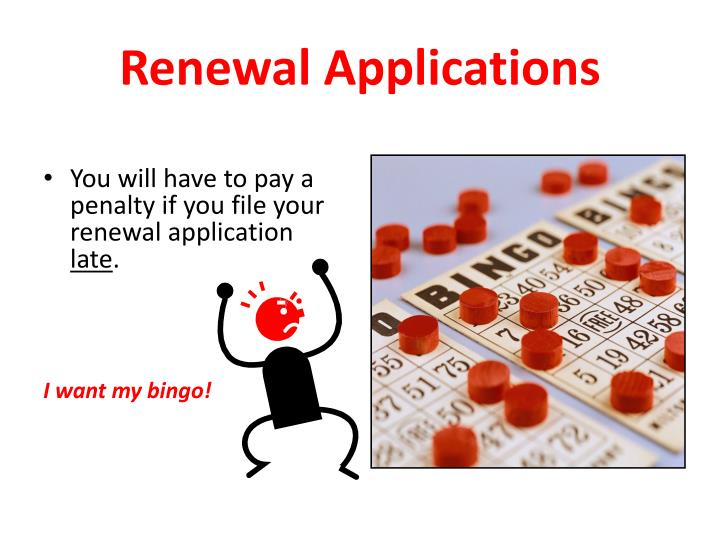 Renewal Applications