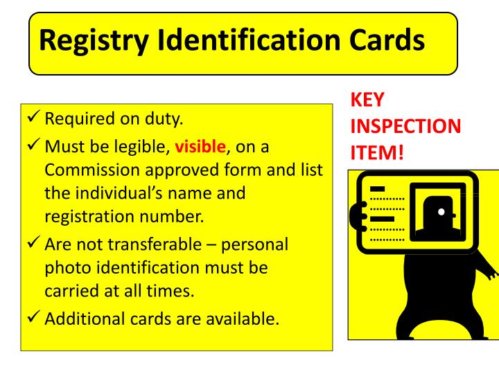 Registry Identification Cards