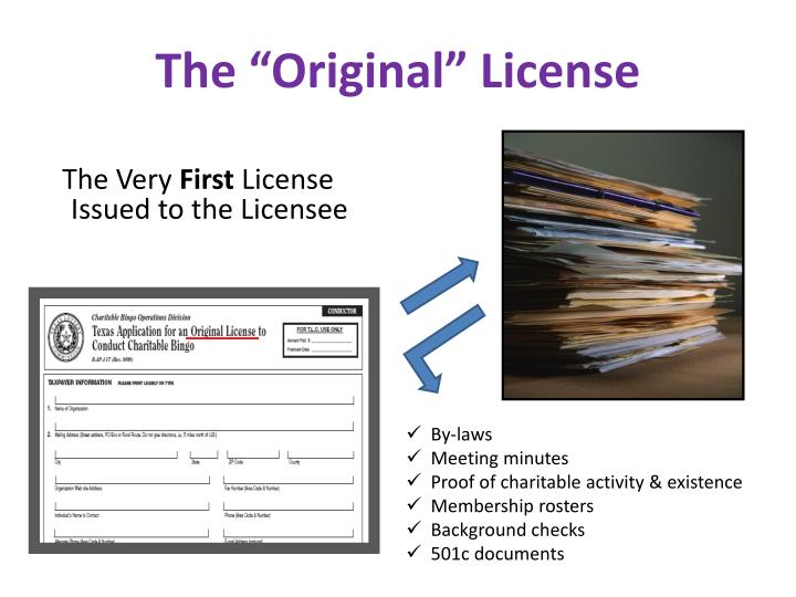 "The ""Original"" License"