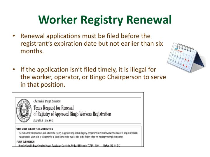 Worker Registry Renewal
