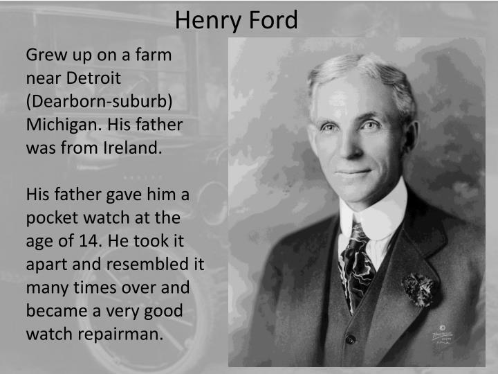 Grew up on a farm near Detroit (Dearborn-suburb) Michigan. His father was from Ireland.