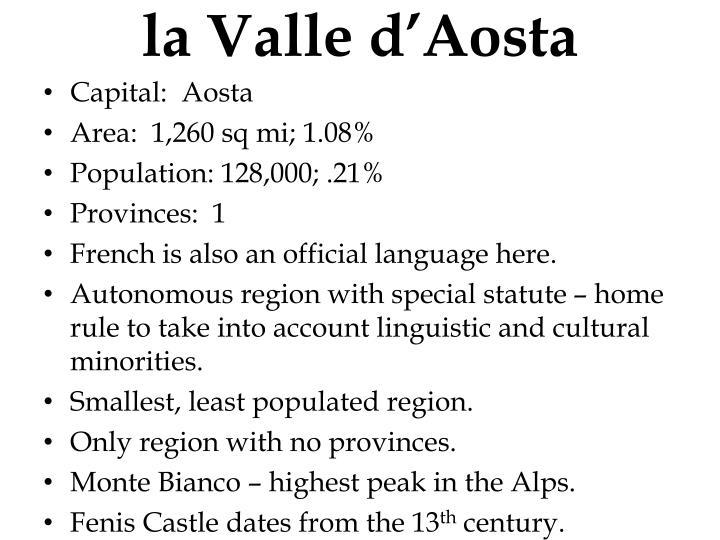 la Valle d'Aosta