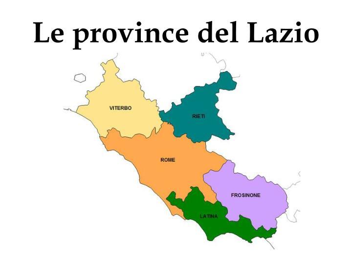 Le province del Lazio